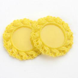 New 50Pcs Lot 42*42mm Flatback Resin Snowflake Setting Cameo Frame Yellow Charms Cheap Charms Cheap Charms