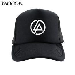 Wholesale Casual Hip Hop Logo Custom LINKIN PARK ROCK MUSIC LOGO Rock Band Cool Mens Knit Hats And Snapback Caps Sport Brand Winter