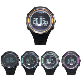Wholesale SUNROAD FR801B Outdoor Sports Watch Pedometer Stopwatch Timer Altimeter Barometer Thermometer Compass LCD Display EL Backlight Y0893
