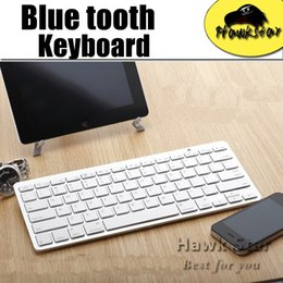 Wholesale Wireless bluetooth keyboard for android device apple IOS system iphone s tablet PC Ultra Slim Aluminum Keys with retailbox
