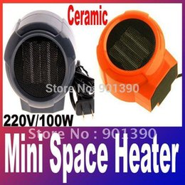 Wholesale Mini Portable Personal Ceramic Fan Forced Space Heater Electric v V W warm air blower A3