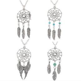 Wholesale-Unique Design Retro Dream Catcher Pendant Faddish Special Chain Necklace