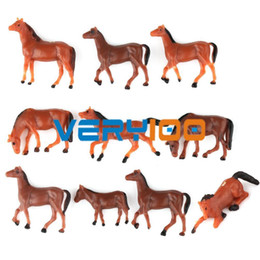 Wholesale 10x HO scale Model Train Building Layout Painted Animal Figures gauge Horse New order lt no track