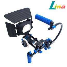 Plates-formes de caméra pour dslr à vendre-DSLR Rig Movie épaule 15mm Rai Rod Support Kit + Quick Lock Suivre Focus + Matte Box + C poignée pour Canon Nikon Sony Free DHL