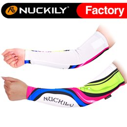 Wholesale Nuckily Black cycling custom arm sleeve coolmax anti uv protection arm sleeve with best quality of cycling arm warmer