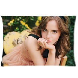 Wholesale Decorative Emma Watson Harry Potter Actress Twin Side Fashion Custom Rectangle Best Pillowcase Pillow Case Cover X30 Inch