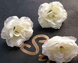 Silk Rose Flower Heads 300p 7cm Fake Peony Camellia Flower Head for Wedding Centerpieces Party Home Artificial Decorative Flowers