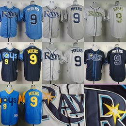 Wholesale Tampa Bay Rays Wil Myers Jersey White Dark Baby Blue Cool Stitched Baseball Jerseys Embroidery Logo size S XL