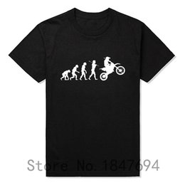 Wholesale-Summer Fashion Evolution Motocross T Shirts Men Short Sleeve Cotton T-shirt Funny Sports Dirtbike Clothing