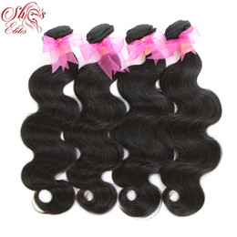 Canada Queen Hair Products brésilien remy Hair Body Wave, 100% Human Hair Weave Extensions 4pcs lot 12