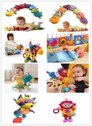 New Baby Lamaze jouets Berceau Jouets Avec Poussette Toy Rattle Teether Infant Development Early Music Newborn Doll Toy Lamaze tissu Livres à partir de tissu lamaze fournisseurs