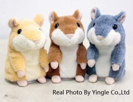 Wholesale-Russia English Speaking talking Hamster,15cm,plush toy,as Talking cat, Animal toy,repeat any language,free shipping