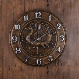 Wholesale Bronze Silver D Classical Wall Clocks Reloj Antique Europe American Style Large Ring Round Wall Clocks Decor GZ16004