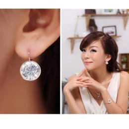 Wholesale 2015 Bella clear pierced Dangle Drop Earrings Made with original SWAROVSKI ELEMENTS Austrian crystal Mother s Day gift for women
