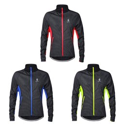 Wholesale-WOLFBIKE men's fall and winter fleece jersey Long sleeve cycling jersey Cycling Suit windproof
