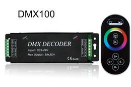 Strip DMX Decoder Led Controller 5-24V DMX100   DMX101 with Remote Control For Led Strip Light DIY