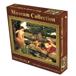 Wholesale Old Master Jigsaw Puzzles Pieces High Quality Paper cm Famous Paintings Museum Collection Echo and Narcissus