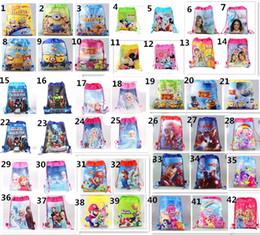 Wholesale Designer Styles Kids Drawstring Backpacks Children Baymax Spiderman Cartoon School Bags Shopping Bag Cheap Travel Bag For Girls And Boys