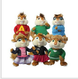 Wholesale New Arrival Alvin and the Chipmunks simon theodore brittany jeanette eleanor high quality baby plush soft toys set