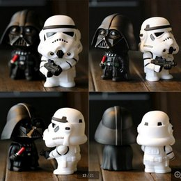 New Star Wars Figures toy 2PCS SETS Black Knight Darth Vader Stormtrooper PVC Action Figures DIY Educational TOYS white soldiers