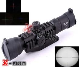 Wholesale Hot sale X40BE Mil Dot Deer Hunting Rifle Scope mm Rail MOUNTS outdoor sports gun
