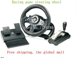 Wholesale-volante pc volante para pc steering pc games wheel usb PC steering wheel Send video games