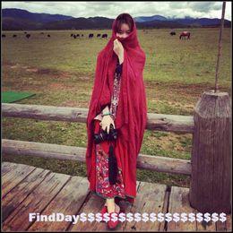 Wholesale 2016 Mori solid Mianma cotton scarf retro area necessary in explosion large size art ladies shawls