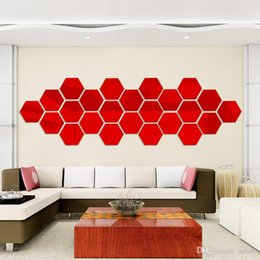 Wholesale Hot Selling Wall Stickers Wallpaper Acrylic D Mirror Effect Home Room Decor Removable Fashion Size mm JM1