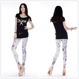 Polainas de poliéster en venta-Verano Estilo Moda Elegante Simple Popular Slim Printed Rose Flower Polyester Women's Leggings Plus Size Jeggings caliente
