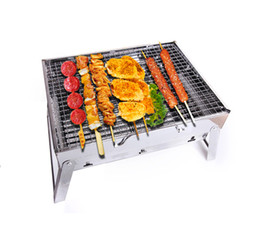 Wholesale 2015 FAshion Outdoor grill New portable folding charcoal bbq grills Steel Simple BBQ outdoor barbeque grill