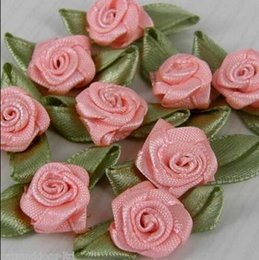 Wholesale 300pcs Small Satin Ribbon Roses Buds Embellishments colors to choose Colour Packet Size