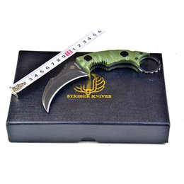 Strider speed defense karambit knives D2 blade machete G10 handle fixed blade claw knife outdoor camping tactical knives edc knife