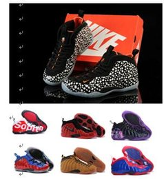Wholesale 28colors Nike Air foamposite One ParaNorman Mens Basketball Shoes Penny Hardaway Foamposites Pro Galaxry Size