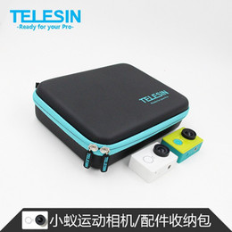 Wholesale Best selling TELESIN Camera Protective Case PU Storage Bag For Xiaomi Yi Xiaoyi Action Sports Camera Accessories Middle Size F14725