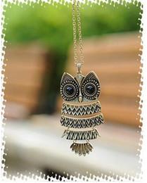 PrettyBaby 2016 fashion owl necklaces retro necklaces bronze antique silver necklaces bead necklaces long necklacces for women