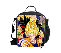 Wholesale Hot Sale Anime Dragon Ball Z Lunch Bags Super Saiyan Goku Box for Food Fashion Children School Lunchbox Kids Thermal Picnic Bag