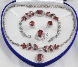 Wholesale gt gt gt jewelry oriental ruby white gold Necklace Bracelet Earring Ring
