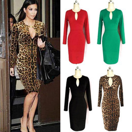Robes moulantes kardashian en Ligne-Robes de travail gaine femmes Kardashian style genou longueur des robes de travail A02