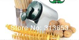 Wholesale 2014 new arrival stainlesssteel twist Tornado potato machine spiral potato chipper potato cutter machine potato chips machine