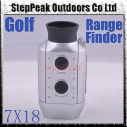 Wholesale High Qulity X18 Digital Golf Laser Range Finder Scope RangeFinder With LCD Display ft yds ATP