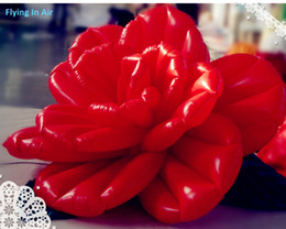 2m 3m Decorative Inflatable Rose Flower with Leaves for Wedding & Event