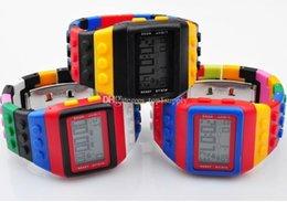 Mujer del estilo de reloj resistente al agua en venta-Moda SHHORS Digital reloj Candy Night Light impermeable unisex alarma señoras unisex de las mujeres relojes 20 colores estilo lote 50pcs