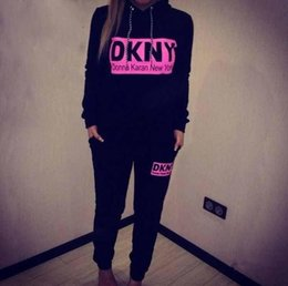Wholesale 2015 Hot women tracksuit sportwear new york print pullover long sleeve hoody sweatshirt sports suit costumes womens B4001