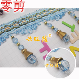 Wholesale Cheap zero shear curtain lace curtain accessories accessories crystal beaded tassels large lamp beads