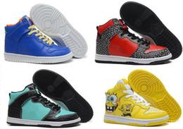 Sb dunks en Ligne-Chaussures de skateboard diamant dunk baskets hi la sortie de gros-pas cher mens et femmes en cuir de haute pro bouchon de prime pour la vente livraison gratuite