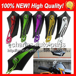 10 Pairs Lot 5 colors Motorcycle Chrome Mirror Rear view Mirrors Rearview side mirror Hand Mirror Rearview handlebar Mirrors No.: 11