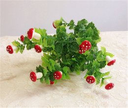 100pcs Plastic Mushroom (13 fruit Bunch) 36cm 14.17 inches Artificial Red Berries for Wedding Xmas Festival Party Home Decor