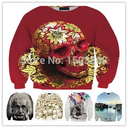 Wholesale 2015 New Swag Sweatshirts American Apparel Skull Einstein D Meletoms Women Skull Sport Suit Graphic Casual Tracksuits FG1510