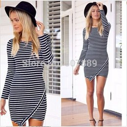 Wholesale Speed sell through the fashion stripe dress Europe and the United States Europe and the United States banquet dress EBAY supply of the Amaz