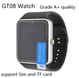 Wholesale Best Quality Bluetooth Smart Watch GT08 For Android IOS iPhone Wrist Wear Support Sync SIM TF Card Camera Pedometer Sleep Monitoring